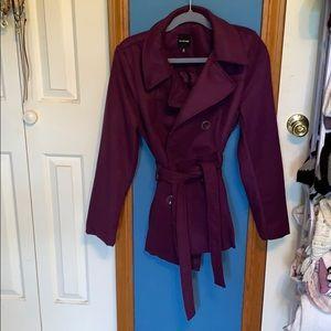 Rampage purple waist length pea coat